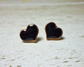 SALE - Mini Color Heart Stud Earrings