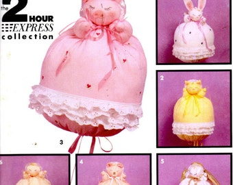"""Simplicity Crafts 7781 Sewing Pattern - 13"""" Tall Bunting Baby, Angel and Animals - 2 Hour Express Collection"""