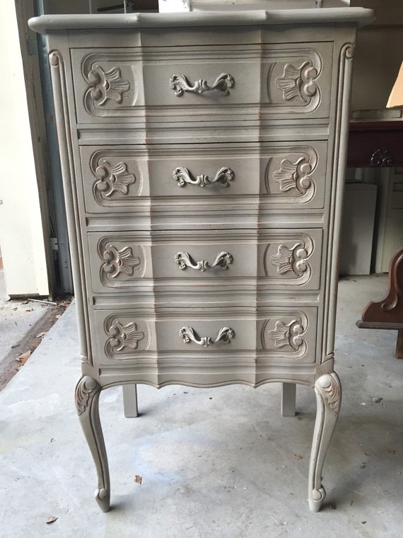 French provincial grey lingerie or jewelry chest for Lingerie and jewelry chest