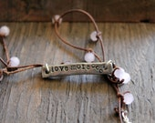 Love more necklace, inspirational jewelry, inspirational necklace, love, motivational necklace