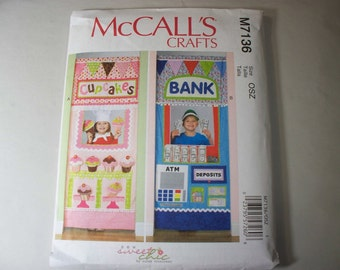 New McCall's Doorway Play Shop Pattern M7136  (Free US Shipping)