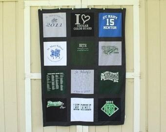 Custom Blanket - T-Shirt Memory Quilt Blanket - 12 Block Design