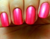 "Nail Polish - Pink/Coral Nail Polish/Lacquer - ""CORAL REEF"" - Regular Full Sized Bottle (15 ml size)"