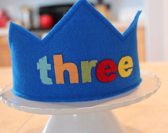 THREE Birthday Crown