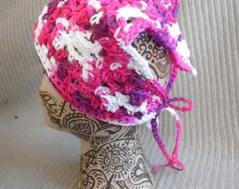 Love Kerchief, Tie On Bonnet, USA Grown Cotton Spring SHOP EVENT