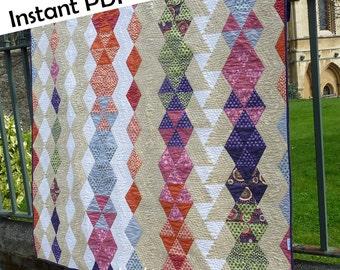 Diamond Trails quilt PDF sewing pattern