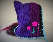 purple princess hood for adults