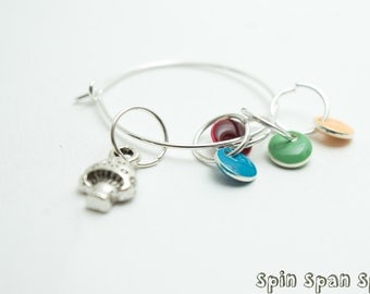 Petit Champignon, Stitch markers, set of 6 markers