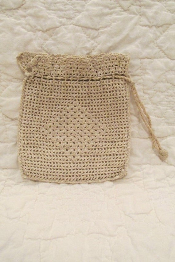 Crochet Small Purse : Antique Crocheted Small Purse SALE by rarefinds4u on Etsy