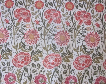 Home Decor Fabric Yardage with Floral Print on Cotton Canvas