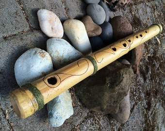 Bamboo Flute with Swirls