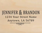 Self Inking Personalized Return Address Stamp - Custom Rubber Stamp R297