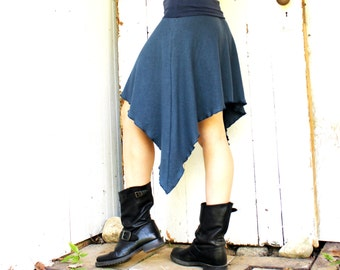 Short Hemp Swallowtail Skirt - Made to Order - Choose Your Color