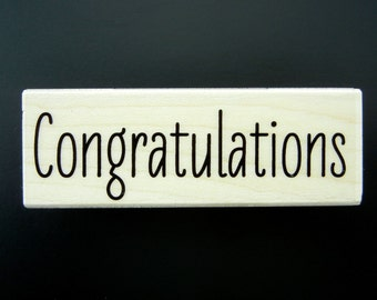 CONGRATULATIONS MESSAGE 2015 Hero Arts Wood Mount Rubber Stamp