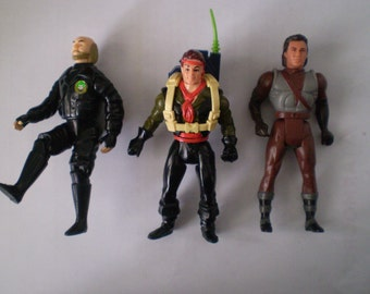 Set Of 3 Vintage Action Figures Bob The Goon, Swashbuckling Peter Pan, Robin Hood