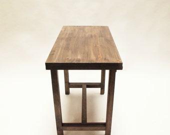 Extending table dark. Kitchen table. Dinning room table.