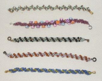 Sporty Spiral Weave Bracelets