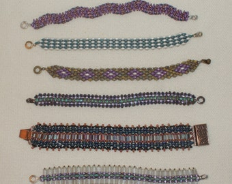 Unique Bracelet Designs with 2-holed Glass Beads