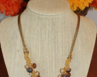 Unusual Spiral Weave Necklace