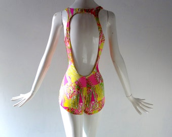 Rose Marie Reid 2pc Bathing Suit & Cabana Jacket - 1970s - size sm med - True Vintage Swimwear - Nantucket Palm Beach Summer Poolside Chic
