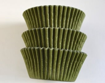 Army Green Cupcake Liners (50)