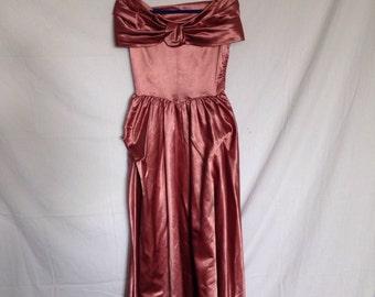 1950s Satin Opera Gown