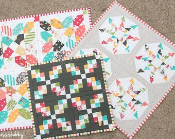 Sweetness (a trio of mini quilts) Pattern #105 PDF quilt pattern