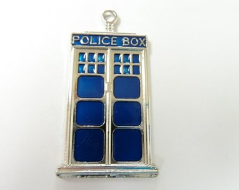 Extra Larage Dr Who Inspired Tardis Police Box Charms