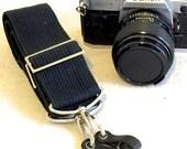 Vintage Sturdy Black Camera Strap-