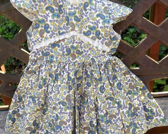 "1940's Dress for 20"" 22"" Dolls Came off Shirley Temple"