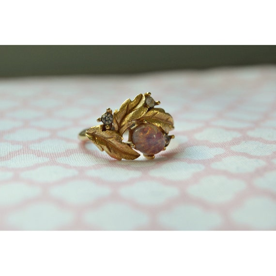 Vintage 1960 S Avon Fire Opal And Rhinestone By Blackeyedbetty