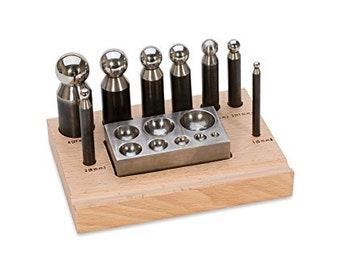 EUROTOOL  8 Punch Dapping Block Set DELUXE QUALITY Jewelry Making Punch Design