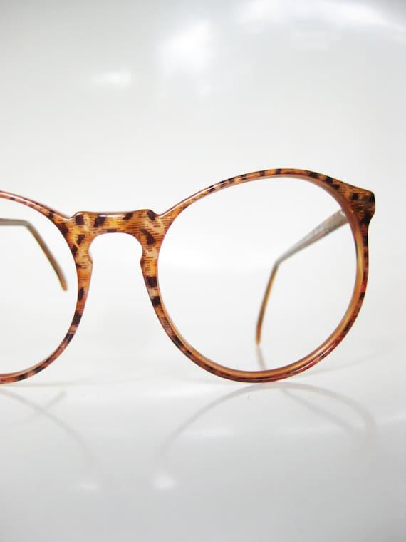 Round Jean Lafont Eyeglasses Keyhole Caramel by OliverandAlexa