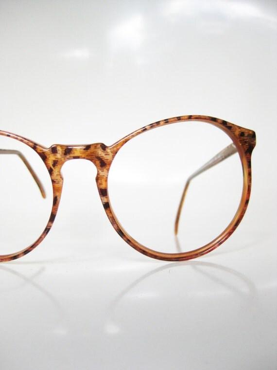 Lafont Round Eyeglass Frames : Round Jean Lafont Eyeglasses Keyhole Caramel by OliverandAlexa