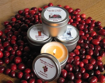 WISCONSIN SAMPLER (four 2-oz soy candles)