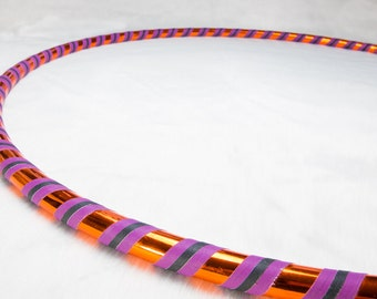 Orange & Purple Coil down Hula Hoop - Choice of Tubing, Size, Weight