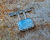 Beaches - Sterling Silver, Larimar and Cubic Zirconia Necklace