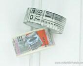 Washi Tape Newspaper Print and Typewriter Rolls Choose Your Color Newspaper Print, Typewriter, or Choose Both