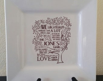 Family Tree Poem Platter