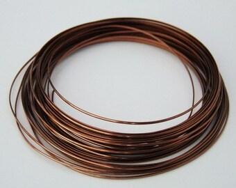 18 GA Half Round Antique Copper Pro Craft Wire 7 Yards
