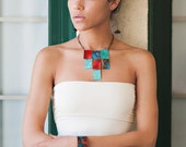 Patina Block Necklace