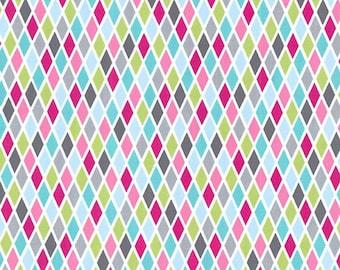 Michael Miller Fabric Rhombus Pink