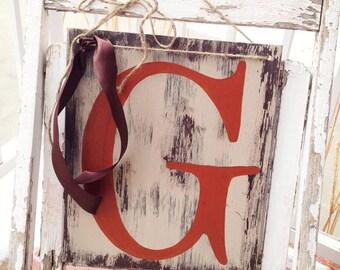 Door Hanger, Front Door Decor, Letter Door Hanger Art Wood Sign, Wall Letters, Custom Initial, Wall Decor, Letter Art Sign, Family Name Gift