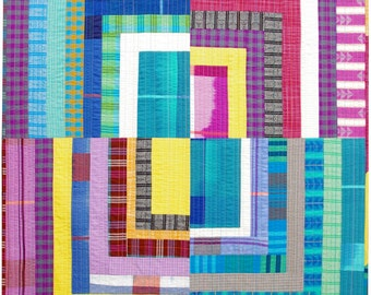Loominous ~ Quarter Log Cabin Quilt or Wall Hanging