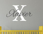 Boy Name Decal, Personalized Vinyl Decals, Childrens Wall Decals, Baby Boy Wall Decal, Wall Decals, Nursery Wall Decals