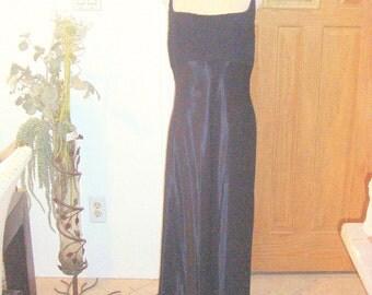 Vintage 1980s Susan Roselli for Vijack Long Black Evening Gown Size 14