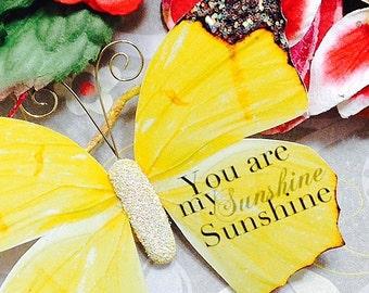 Butterfly Embellishments My Sunshine