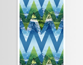 Chevron Mountains of Majesty POSTER