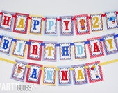 Circus Birthday Party Banner Decorations Fully Assembled