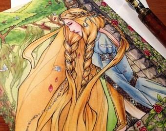Greeting Card - Rapunzel - Blank - Stationary